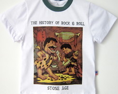 Camiseta Infantil Stone Age*History Of Rock And Roll