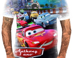 Camisa Camiseta Personalizada Filme Carros Cartoon 01