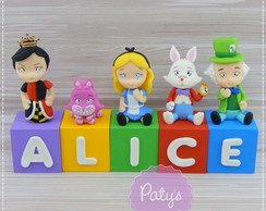 Cubos Decorados Alice in Wonderland