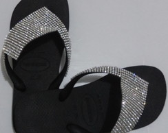 Kit 2 Chinelos Havaianas Decorados com Manta de Strass