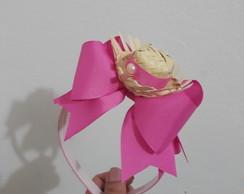 ... 10 tiara junina com mini chapéu de palha e fita de gorgurão fdbd9176d79