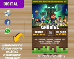 CONVITE DIGITAL MINECRAFT