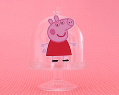 Mini-cúpula com aplique - Peppa Pig