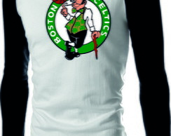 Camiseta Raglan Manga Longa Boston Celtics