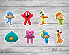 150 Apliques Pocoyo 3,5 cm Tags Toppers