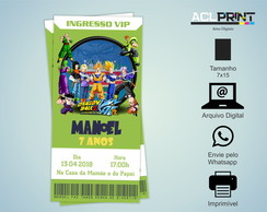 Convite Ingresso VIP Digital - Dragon Ball