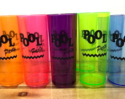 Copo long drink neon