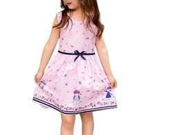 f97ad55eb1535b Vestido Infantil Estampa Menina Rosa 3 a 4 anos no Elo7 | Menina ...