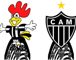 Kit 10 mini displays do tema Atletico Mineiro em mdf 3mm