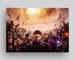 PLACA DECORATIVA PVC - AVENGERS INFINITY WAR