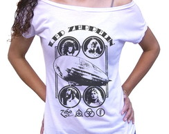 Camiseta feminina rock Led Zeppelin