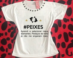 Baby look Customizada - Signo de Peixes