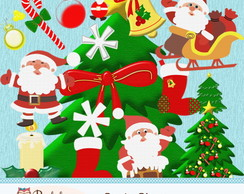 Kit Scrapbook Digital Santa Claus