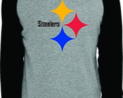 63e2e0839d ... Camiseta Raglan Manga Longa Pittsburgh Steelers