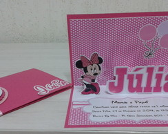 Convite Pop Up Minnie Rosa