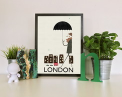 "Quadro moldura MDF ""London"""