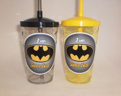 Copo Shake c/ Canudo de 500ml Super Herói Batman