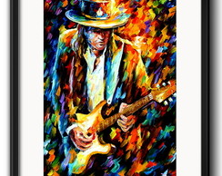 Quadro Stevie Ray Vaughan Pop Art com Paspatur