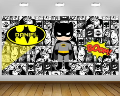 PAINÉL FESTA INFANTIL-BATMAN QUADRINHOS 2x1M (bat01) DIGITAL