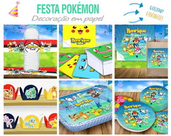 Kit Festa Pokemon - Rótulos, Tags, Forminhas, Toppers