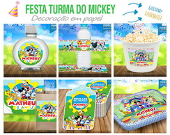 Kit Festa Turma do Mickey - Rótulos, Tags, Forminhas, Topper