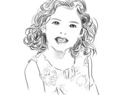 Retrato Desenho Realista Preto E Branco Elo7