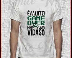 Camiseta Branca Game over
