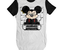 Camiseta mickey mouse preso longline Swag
