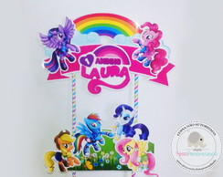 Topo de Bolo Scrap Little Pony