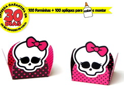 100 forminhas para doces monster high