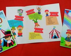 ... Cardápio circo de mesa personalizado loja DESDE 2009 45f127f9012aa