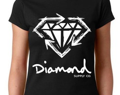 Camiseta Baby Look Hiphop Swag - Diamond Supply 100% Algodão