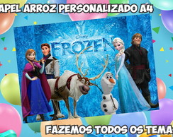 Papel Arroz A4 Frozen