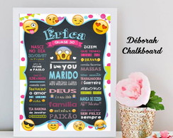 Chalkboard Emoticon Moldura A3