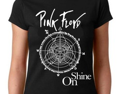 Camiseta Baby Look Rock - Pink Floyd Shine on- 100% Algodão
