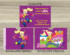 Convite POLLY Mais Envelope POLLY