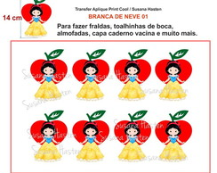 Transfer Aplique KIT BRANCA DE NEVE