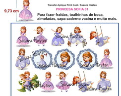 Transfer Aplique KIT PRINCESA SOFIA 01