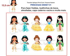 Transfer Aplique KIT PRINCESA DISNEY 01