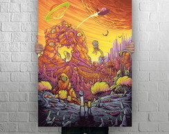 Quadro Poster Gigante, 1,0 x 0,70, Rick and Morty Modelo 04