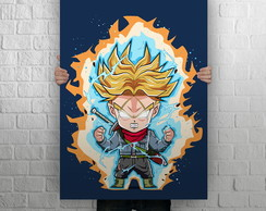 Quadro Poster Gigante 1,0 x 0,70, Dragon Ball, Trunks SSJ
