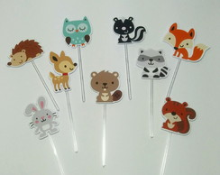 Kit Toppers Animais do Bosque / Woodland