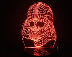 Luminária Led 3d Darth Vader Star Wars Acrílico Abajur