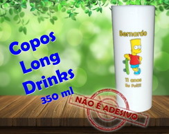 Copos Long Drinks 350 ml Bart Simpsons