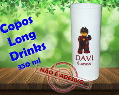 Copos Long Drinks 350 ml Ninjago
