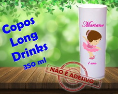 Copos Long Drinks 350 ml bailarinas