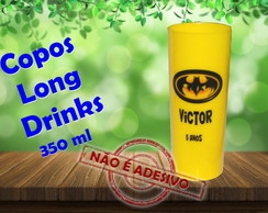 Copos Long Drinks personalizados 350 ml batman