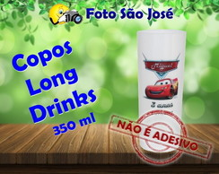 Copos Long Drinks personalizados 350 ml Carros