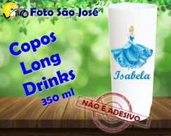 Copos Long Drinks 350 ml Cinderela
