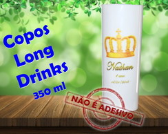 Copos Long Drinks personalizados 350 ml coroa